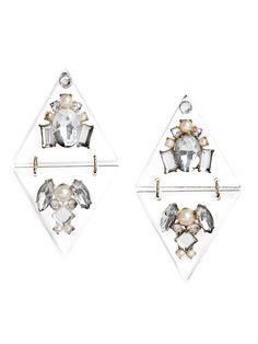 Nebula lucite drop earrings