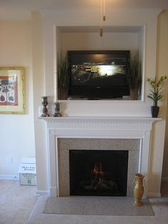 Fireplace Inserts: gas fireplace insert, electric fireplace insert and wood burning fireplace Insert Corner Electric Fireplace, Corner Gas Fireplace, Build A Fireplace, Cast Iron Fireplace, Home Fireplace, Fireplace Surrounds, Fireplace Brick, Fireplace Ideas, Stacked Stone Fireplaces