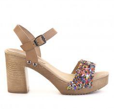 Sandalia tacón piel CREEKS Heeled Mules, Peep Toe, Shoes, Fashion, Flat Sandals, Fur, Zapatos, Pedicures, Women