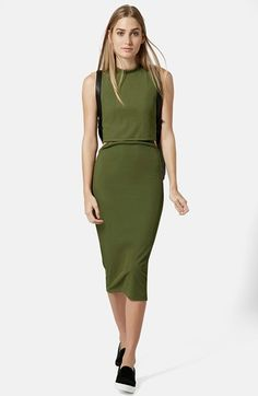 Topshop Sleeveless Cutout Midi Dress (Regular & Petite) available at #Nordstrom