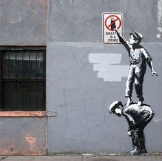"""Banksy's NYC Debut """"Better Out Than In"""" Day 1-11..."""
