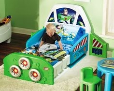 Buzz Lightyear Bed!!  H would be so elated he'd NEVER nap if I put this in his room!