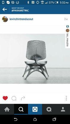 Gradient aluminum chair