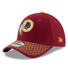 fa2f72b77e1 Men s Washington Redskins New Era Burgundy 2017 Sideline Official 39THIRTY  Flex Hat