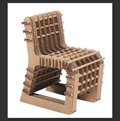 Chaise en carton ondulé (faisable en récup) avec utilisation d'encoches et de plis