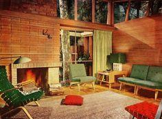 """Fabulous '50s Living Room    """"Better Homes & Gardens""""January 1951"""