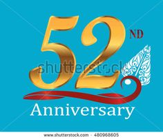 52nd golden anniversary logo with white indonesia shadow puppet ornament