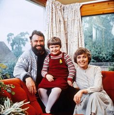 Brian with his second wife and Hildegarde Neil and Rosalind in 1981...