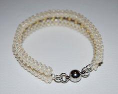 Delicate Double Beaded Bracelet made with TOHO beads - handmade using the Cubic Right Angle Weave (C-RAW) technique - Etsy