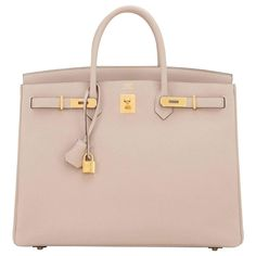 Hermes Gris Tourterelle 40cm Togo Birkin Bag Gold Hardware Superb 1
