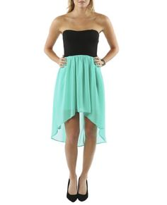Wet Seal Women's Sweetheart 2fer High-low Dress S Pool Green $29.9 #Apparel #WetSeal