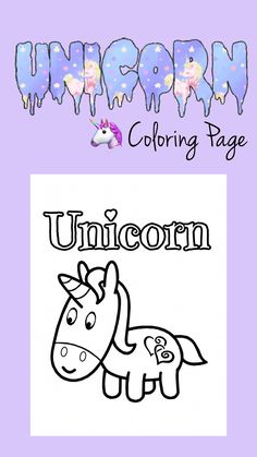Unicorn Coloring Page ~ Free Printable