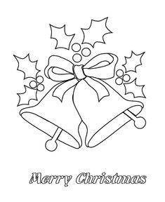 merry christmas bells christmas coloring pages