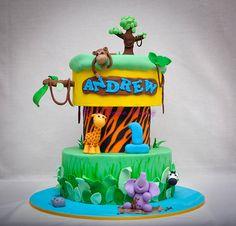 Andrew's jungle cake
