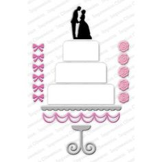Ellen Hutson LLC - Impression Obsession Dies, Wedding Cake, $16.00 (http://www.ellenhutson.com/impression-obsession-dies-wedding-cake/)