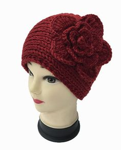 Knit Headband With Flower - Additional Colors Available