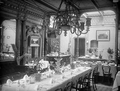 Dining Saloon on the S.S. Great Eastern by National Library of Ireland on The Commons, via Flickr