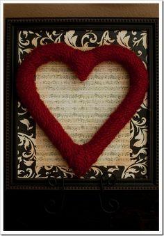 hart in een lijst
