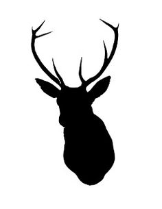 Free Christmas Printables | Deer head silhouette