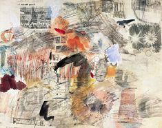 Robert Rauschenberg, Sans titre, 1961 Reports sérigraphiques de journaux, crayons de couleur, aquarelle et gouache sur papier, 58,5 x 73,5 cm Donation Daniel Cordier 1989 - AM 1989-472 © Untitled Press, Inc./ Adagp, Paris