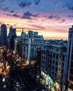 Madrid's magical sunset #travel #photography #nature #photo #vacation #photooftheday #adventure #landscape