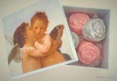 Jaboncitos de rosas y lavanda