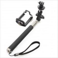 360 Degree Rotation Adjustable Handheld Selfie Monopod for GoPro Hero / Cellphone - Black Gopro Hero, Selfie, Black, Black People, Selfies