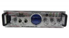 Amplificador Audio Estéreo Karaoke Radio SD USB modelo 10526 - Especificaciones ténicas  Impedancia 4-16 Ohm SNR: 90dB Potencia de entrada: 12V DC5A AC220V Impedancia de entrada: 47K Frecuencia: 20Hz – 20Khz Control remoto            - https://buscacomercio.es/producto/amplificador-estereo-karaoke-radio-sd-usb-modelo-10526/