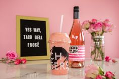 Taco Bell Has a Frozen Drink Made with a Washington Rosé Seattle Met - July 10, 2018 Yes way: Rosé, along with the movement of millennial pink–hued everything, steadily continues to dominate the moment. And Taco Bell is here to freeze it for the masses. #wawine #Roséallday