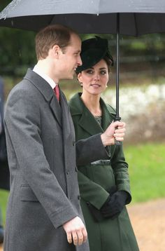 Catherine, Duchess of Cambridge and Prince William, Duke of Cambridge attend a Christmas Day church service at Sandringham on December 25, 2015 in King's Lynn, England