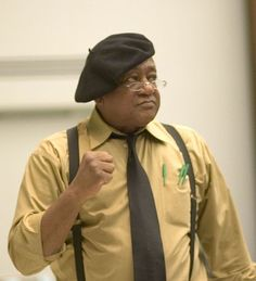 This is Bobby Seale recently speaking at a college. Angela Davis, Black Panthers Movement, Bobby Seale, Black Panther Party, Power To The People, Civil Rights Movement, African American History, Black Power, Black Is Beautiful