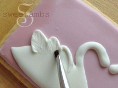 Swans from royal icing
