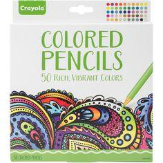 Crayola Colored Pencil Set 50/Pkg-
