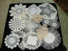 Vintage Crochet Bobbin Lace Doilies Lot of 16