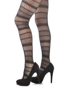 fashion stockings | ... > Accessories > Tights > Women's Fashion Fishnet Stockings Stripes