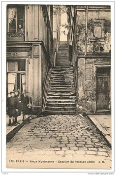 The Old Montmartre - Le vieux Montmartre. Notice the woman in the window.