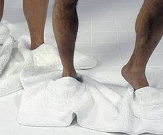 Bathroom Mat Slippers $65.42 OMGosh I need these. I have a weird dirty feet thing lol