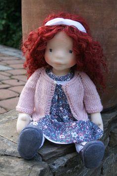 Rosalie 17inch waldorf inspired doll waldorf doll steiner