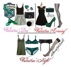 Slytherin Valentine's Day by slytherinstyle on Polyvore featuring polyvore, fashion, style, INDIE HAIR, Elle Macpherson Intimates, Valentino, Dulce, Jonathan Aston, Gorgeous, Yves Saint Laurent, Chanel, Rebecca Minkoff, KOTUR, Avanessi, Topshop and clothing