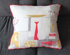 Modern Mid Century Decor Pattern Graphic Pillow