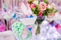 Little Big Company | The Blog: Perfectly Sweet's Pastel Geometric Wedding Table At A Darling Affair.