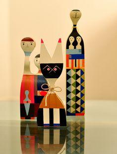 Alexander Girard Wooden Dolls #MidCenturyModern #Girard