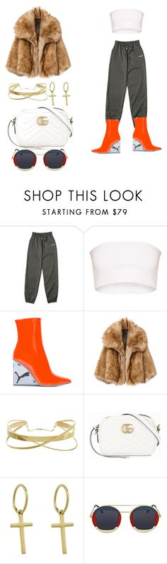 """Street Smart"" by destiny-orihuela ❤ liked on Polyvore featuring Puma, Gucci and Monarc Jewellery"