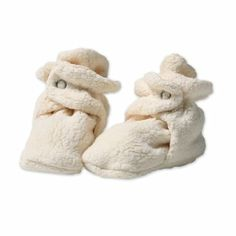 Uh yea, Miss L has these in several different colors because they are so awesome! My pre-walker needs something to keep her feet warm and socks just fall off. These Zutano Newborn Baby Fleece Booties do not fall off and they look adorable!