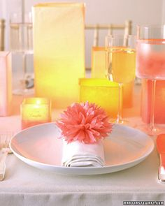 Pom-Poms and Luminarias - Martha Stewart Weddings Inspiration