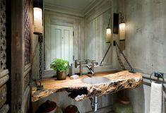 Badezimmer Ideen Wanne waschbecken natur kette