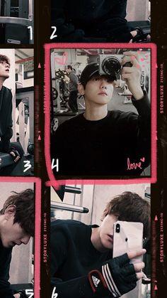 Retro Aesthetic, Kpop Aesthetic, Baekhyun Wallpaper, Reflection Photos, Exo Lockscreen, K Wallpaper, Chanbaek, Cute Wallpapers, Phone Wallpapers