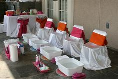 pedicure anyone? Idea for Kendal's future Parties.