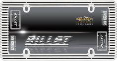 Billet, Chrome/Black License Plate Frame