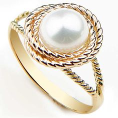 Pearl Love Knot Ring